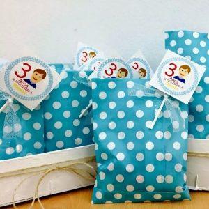 Piruleta y bolsa personalizada cumpleaños