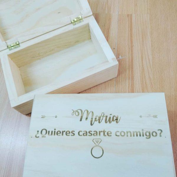 caja sorpresa pedir matrimonio