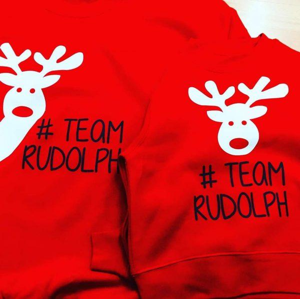 Set Sudaderas Navidad team rudolhp