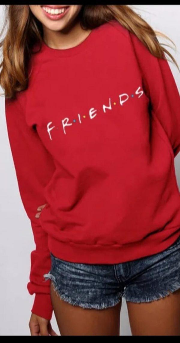 sudadera friends roja