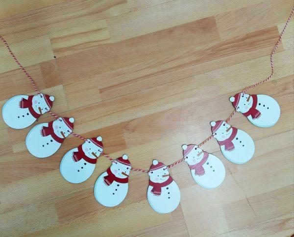guirnalda navidad muñeco nieve