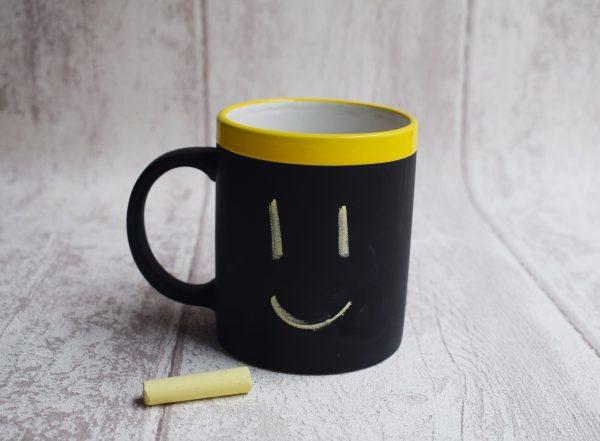 taza pizarra regalo invitados