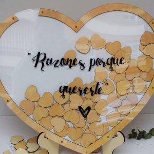 marco corazon personalizado