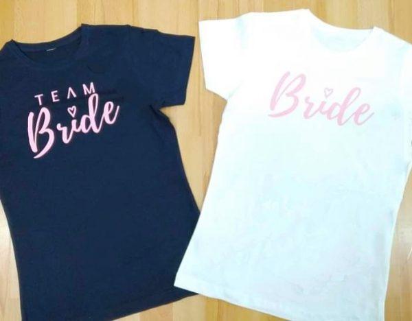 Camiseta Bride y team bride