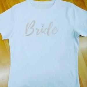 camisetas despedida team bride oro rosa