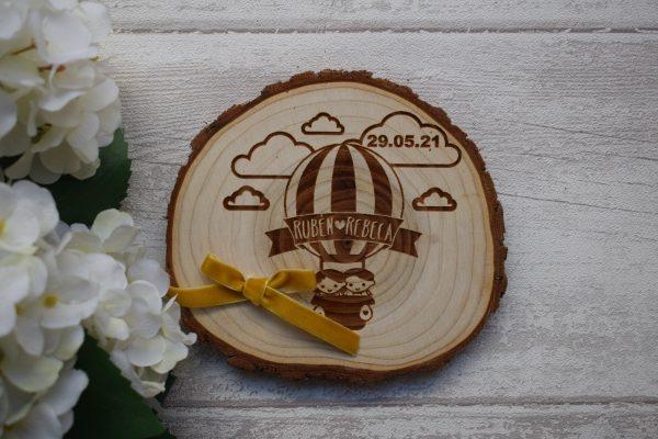 porta alianza tronco madera