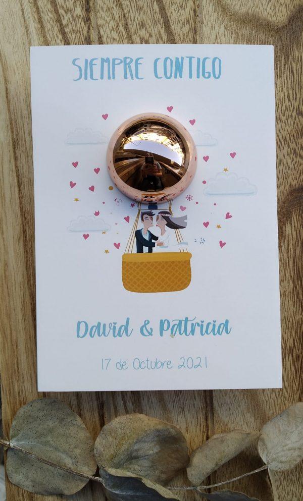 balsamo labial personalizado boda globo
