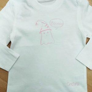 camiseta halloween bebe fantasma