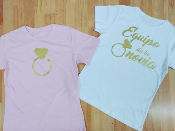 camiseta despedida equipo de la novia