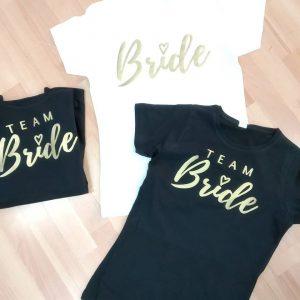 camiseta despedida team bride