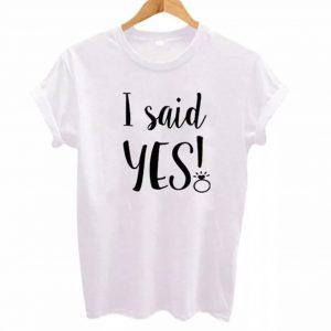 camiseta despedida I said yes