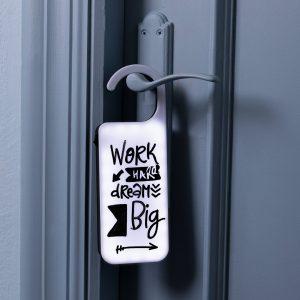 Colgador Pomo Puerta con Mensaje