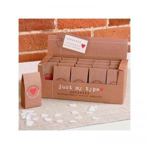Confeti biodegradable para bodas forma corazón
