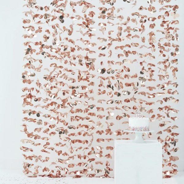 cortina oro rosa