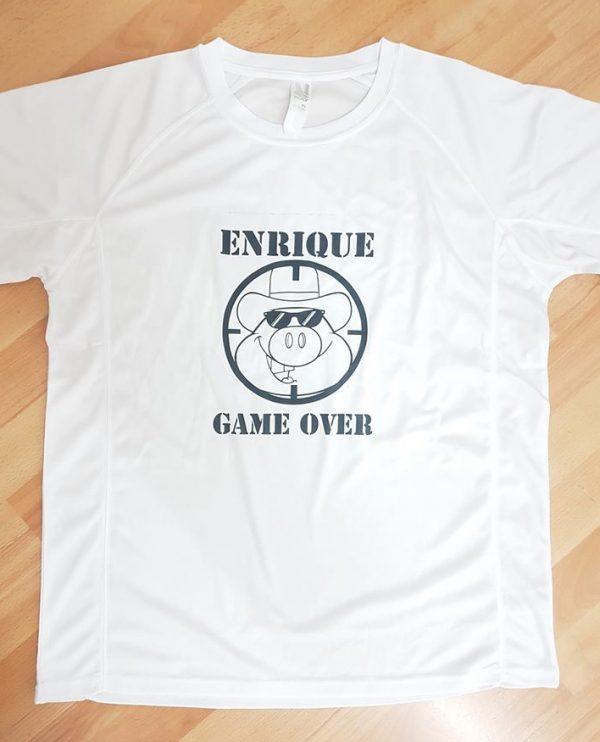 camiseta despedida soltero gameover
