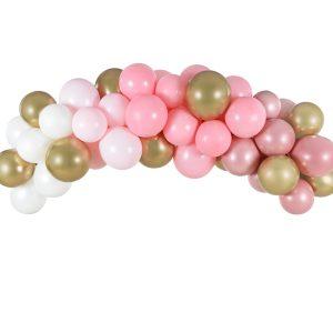 guirnalda globos rosa