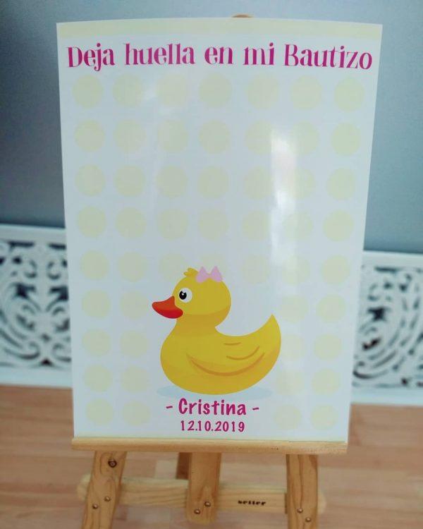 Libro de firmas bautizo pato