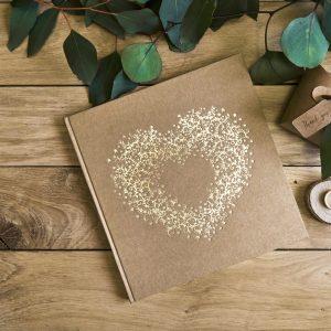 libro de firmas corazon