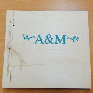 libro de firmas madera