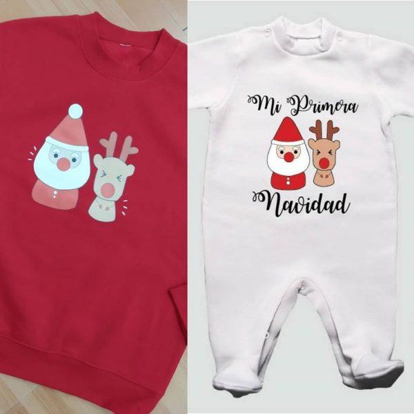 pack sudadera y pijama navidad para hermanos