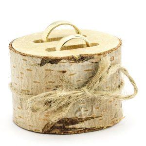 porta alianzas tronco madera