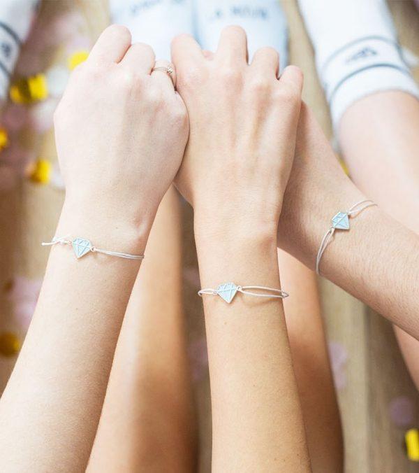 pulsera novia y amigas de la novia