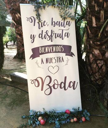 cartel bienvenidos