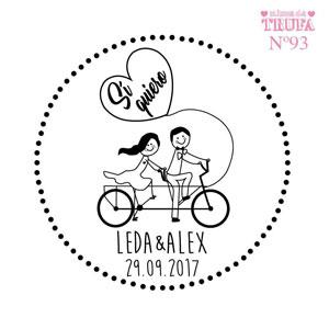 sello boda bici