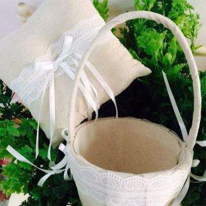 cesta cojin arras y anillos