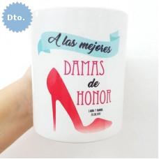 tazas damas de honor