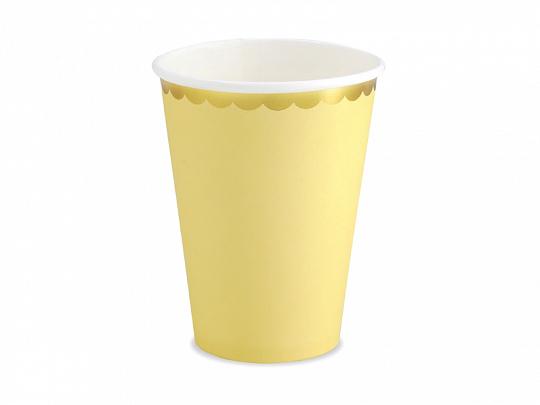 vasos amarillo pastel