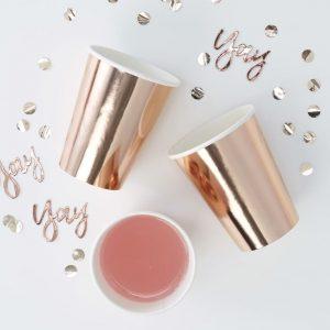 vasos oro rosa